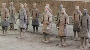"""Some of the """"Terracotta Warriors"""" guarding the tomb of China's first emperor near Xi'an"""