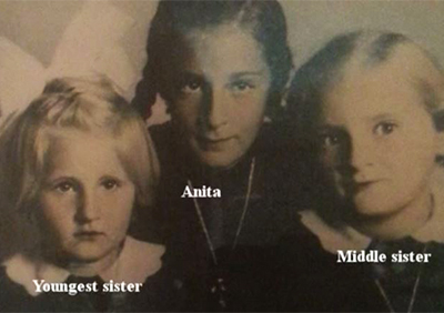 Anita was the oldest of three sisters