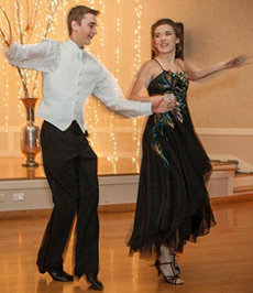 Alicia dances with her brother, Alex, at the Inspire Ball -- photo courtesy of Jamie Feldman