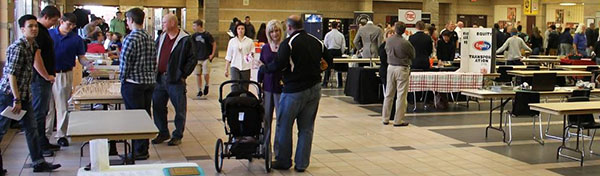 """Area companies set up information tables at theApplied Technology & Design program """"Career Knight"""""""