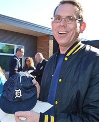 1984 classmate Pat Eining brought his baseball cap from 1984, which his teacher bet him back in sixth grade that he wouldn't still have
