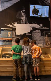 Students examine the exhibits at the Grand Rapids Public Museum. (Photo courtesy of the Grand Rapids Public Museum.)