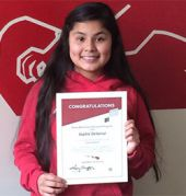 Along with India, Union High School student student Sophie Delacruz was selected for the Gates Millennium Scholarship in 2014