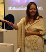 Esperón answered students' questions about her book and her life as a writer