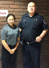 Sydney Bogard's supervising officer from Walker Police Department, Gil Redzinski attended her graduation from the Criminal Justice program at the Tech Center