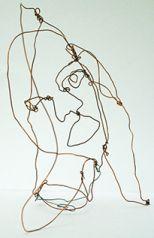 "Mackenzie Reid's piece, titled ""Copperhead"" was her first attempt at sculpture"