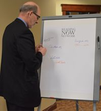 Ionia ISD Superintendent Robert Kjolhede signs onto the Reading Now Network