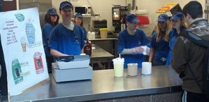 Students in Sparta's special needs program operate a full service ice cream shop during lunch periods (courtesy photo)