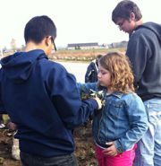 One of the class projects was raising money to buy wildflowers and planting them with elementary students around Sparta schools