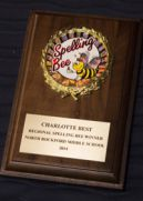 Winners recieved a personalized Spelling Bee plaque