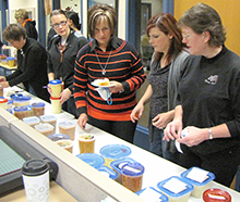 Teachers swap soup, with some of each kind donated to teacher Deb Balk