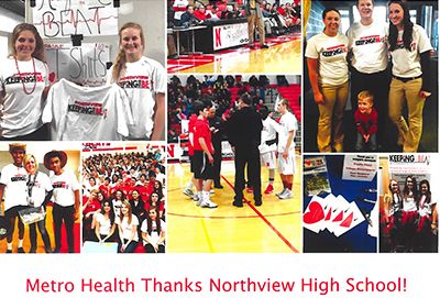 Metro Health sent a thank you to Northview students for promoting heart screenings with a lip dub