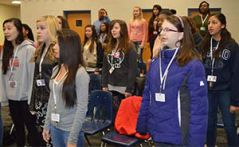 Kentwood students sing to Ashley Alexander