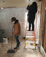 Students get to participate in all aspects of building a house