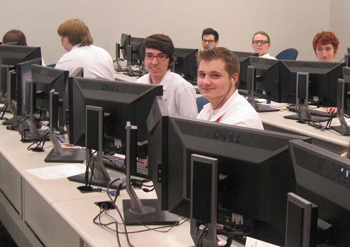 IT students work towards a medal