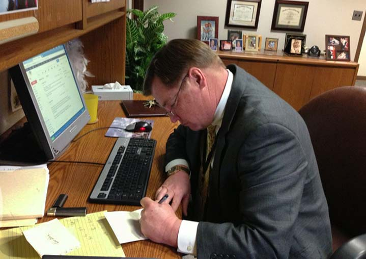 Retiring Kentwood Public School Superintendent Scott Palczewski says he sends hand-written notes to teachers and staff who have had a significant event in their lives, whether it is a death in the family or a new baby, to reinforce the idea that they are part of the larger Kentwood family