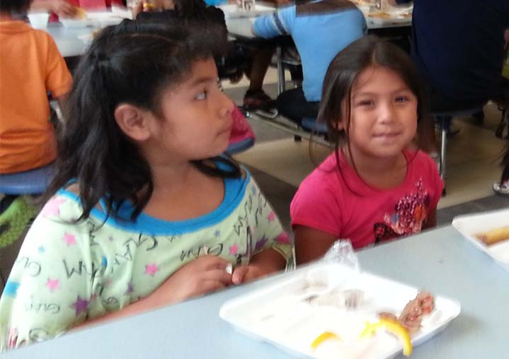Students enjoy lunch at Kent City Middle School, a site for