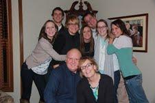 Robert and Sheridan Steelman, front, with their children (left to right), Katherine, Kevin, Kelly, Kassandra, Brad (Kristin's husband), Kristin and Kerri