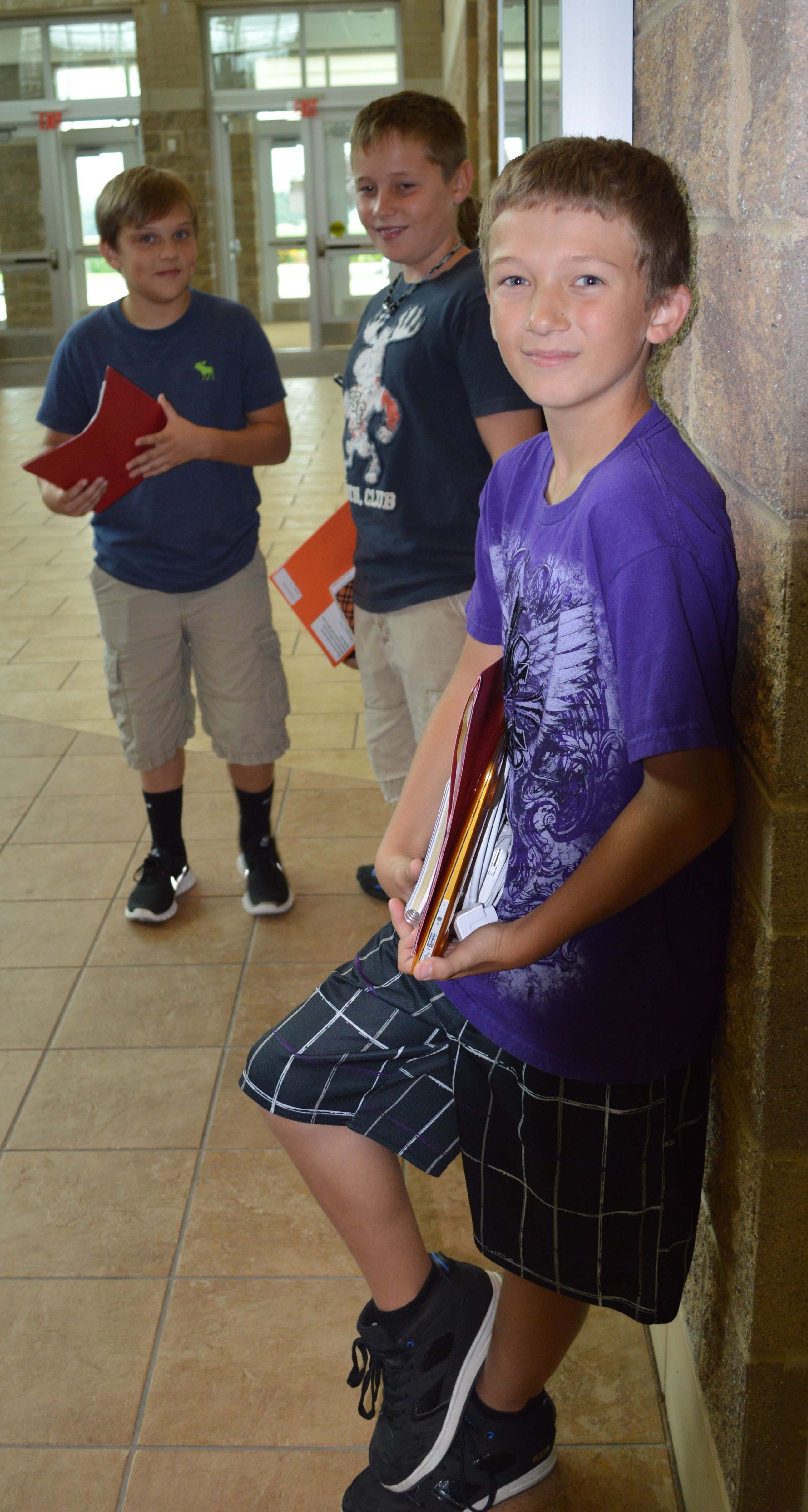 Seventh grader Eric Gervase gets comfortable with the surroundings