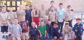 Cub Scouts are working to sell bricks to help fund programs at West Elementary School