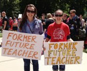 Students, parents, educators and concerned citizens rallied for education reform at the Michigan State Capitol in Lansing in June  Courtesy photo