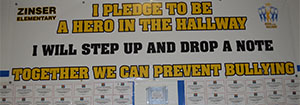 """Zinser students pledge to speak up if they hear or see things that """"do not seem right"""""""
