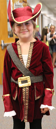 Page Elementary student  Adrianna Beard shows off her pirate costume