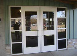 These school vestibules are examples of the kind that would be built if Lowell voters approve a 1-mill sinking fund