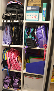 Donations of school supplies equip students for the classroom