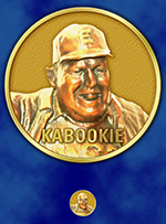 Kabookie's cheering face is on one side of the coins