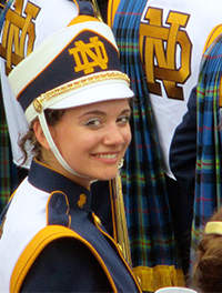 Alicia Czarnecki and other members of the Notre Dame Marching Band are a big deal on campus