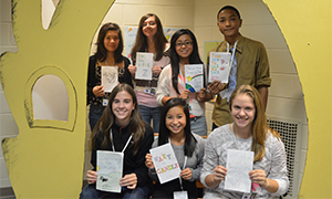 Students in the Kentwood Freshman Campus Teen Leadership class create children books about self-concept