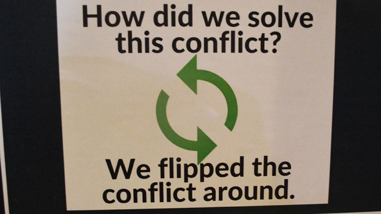 How did we solve this conflict? We flipped the conflict around.