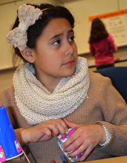 Alborada Caballero-Diaz of Grand Rapids Child Discovery Center could be on her way to an engineering career after designing and building a robot that draws