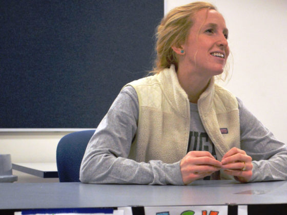 Students could ask scientist Chelsea Newton from Van Andel Institute anything they wanted to about STEM subjects