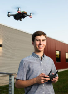 Evan works extensively with drone technology