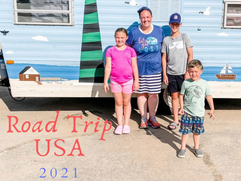 Godfrey-Lee STEAM teacher Jessica Priem and her three kids, (from left) Addison, Xander and Andrew, are traveling to 41 national and state parks this summer (all photos courtesy of Just KIDing Mama)