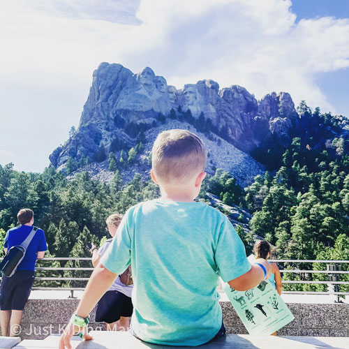 """""""I'm just going to sit right here,"""" said Priem's youngest son Andrew at Mount Rushmore National Memorial"""
