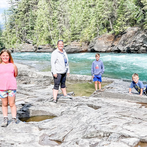 For Xander Priem, second from right, his dream destination was Glacier National Park to go fly fishing with his grandfather