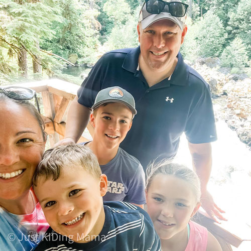 Jessica's husband, Chris Priem, flew out and joined his family at Olympic National Park and celebrated their 13-year wedding anniversary